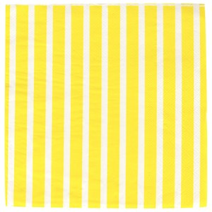 Image of My Little Day 20 Paper Napkins - Yellow Stripes (2743698031)