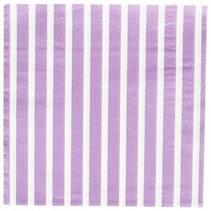 Image of My Little Day 20 Paper Napkins - Lilac Stripes (2743698025)