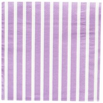 My Little Day 20 Paper Napkins - Lilac Stripes lilac stripes
