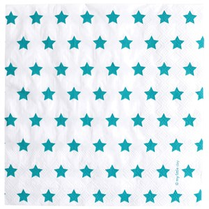 Image of My Little Day 20 Paper Napkins - Blue Stars (2743697807)