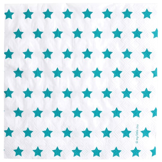 My Little Day 20 Paper Napkins - Blue Stars Blue Stars