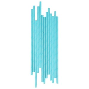 Image of My Little Day 25 Paper Straws - Light Blue (2743698103)