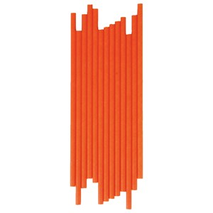 Image of My Little Day 25 Paper Straws - Orange (2743698111)