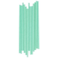 My Little Day 25 Paper Straws - Aqua Aqua