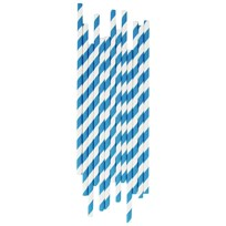 My Little Day 25 Paper Straws - Blue Stripes Blue Stripes