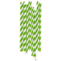 My Little Day 25 Paper Straws - Green Stripes green stripes