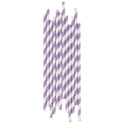 My Little Day 25 Paper Straws - Lilac Stripes