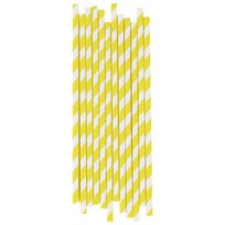 My Little Day 25 Paper Straws - Yellow Stripes Yellow Stripes