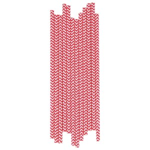 Image of My Little Day 25 Paper Straws - Red Chevrons (2743698213)