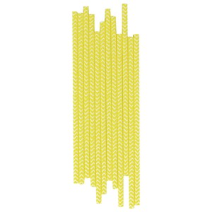 Image of My Little Day 25 Paper Straws - Yellow Chevrons (2743696637)