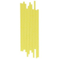 My Little Day 25 Paper Straws - Yellow Chevrons yellow chevrons