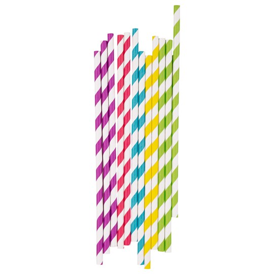 My Little Day 25 Paper Straws - Multicolor Mix multicolor stripes mix