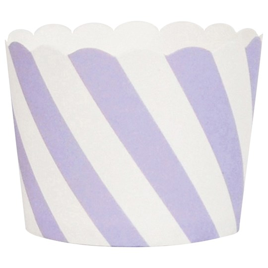 My Little Day 25 Baking Cups - Lilac Diagonals lilac diagonals