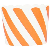 My Little Day 25 Baking Cups - Orange Diagonals orange diagonals