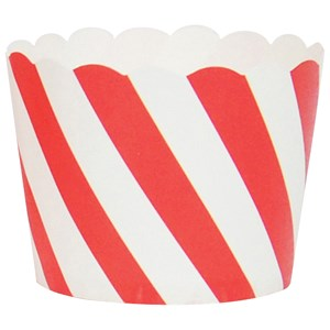 Image of My Little Day 25 Baking Cups - Red Diagonals (2743698077)