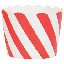 My Little Day 25 Baking Cups - Red Diagonals red diagonals