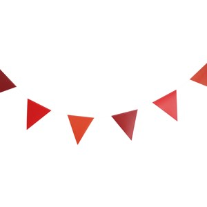 Image of My Little Day 3m Paper Bunting - Red (2743811689)