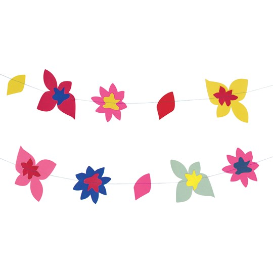My Little Day Theme Paper Garland - Tropical Flowers tropical flowers