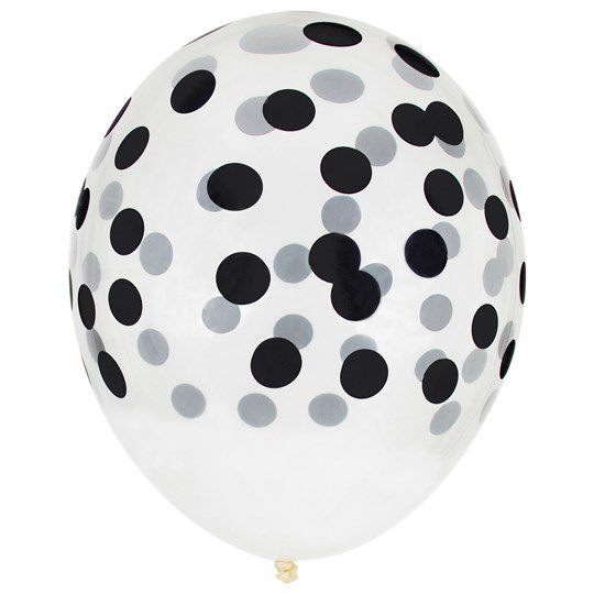 My Little Day 5 Printed Confetti Balloons - Black Black