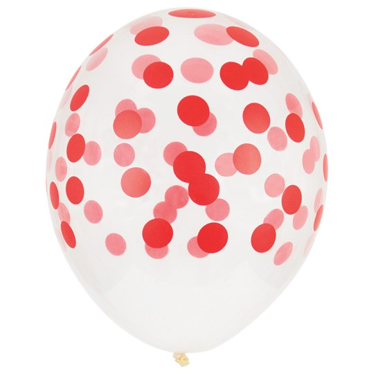 My Little Day 5 Printed Confetti Balloons - Red Red