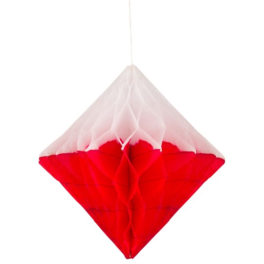 My Little Day Honeycomb Paper Diamond - Red & White Red
