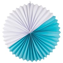 My Little Day Paper Lantern - Turquoise & White Blue