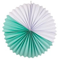 My Little Day Paper Lantern - Aqua & White Aqua