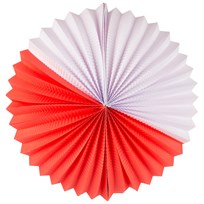 My Little Day Paper Lantern - Red & White Punainen