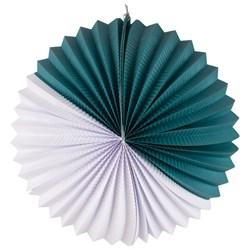 My Little Day Paper Lantern - Teal & White