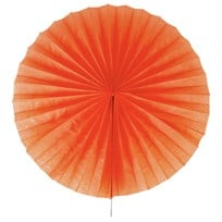 My Little Day Pinwheel Paper Fan - Orange Oransje