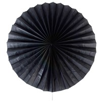 My Little Day Pinwheel Paper Fan - Black Black