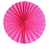 My Little Day Pinwheel Paper Fan - Bright Pink BRIGHT PINK