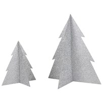 My Little Day Glitter Christmas Tree - Silver - Large Silver