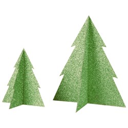 My Little Day Glitter Christmas Tree - Green - Large
