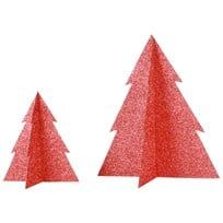 My Little Day Glitter Christmas Tree - Red - Large Punainen