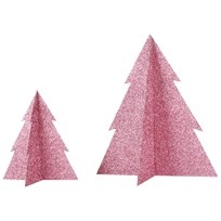 My Little Day Glitter Christmas Tree - Pink - Small Pink