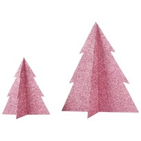 My Little Day Glitter Christmas Tree - Pink - Large Pink