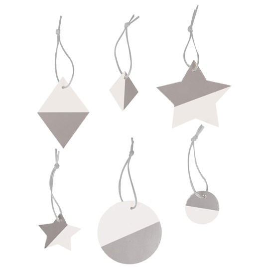 My Little Day Two-Colored Geometric Decorations - Silver Silver