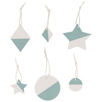 My Little Day Two-Colored Geometric Decorations - Aqua Aqua