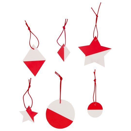 My Little Day Two-Colored Geometric Decorations - Red Red