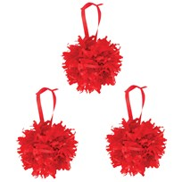 My Little Day Paper Pompoms - Red Punainen