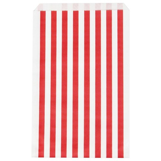 My Little Day 10 Paper Bags - Red Stripes red stripes