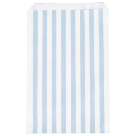My Little Day 10 Paper Bags - Light Blue Stripes light blue stripes