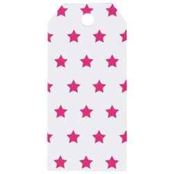 My Little Day 12 Gift Tags - Bright Pink Stars