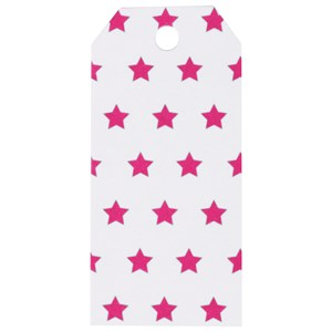 Image of My Little Day 12 Gift Tags - Bright Pink Stars (2743691779)