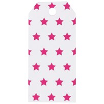 My Little Day 12 Gift Tags - Bright Pink Stars bright pink stars