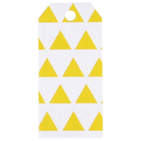 My Little Day 12 Gift Tags - Yellow Triangles yellow triangles
