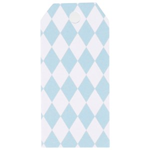 Image of My Little Day 12 Gift Tags - Light Blue Diamonds (2743691781)