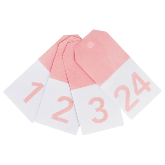 My Little Day 24 Gift Tags - Light Pink Numbers light pink numbers