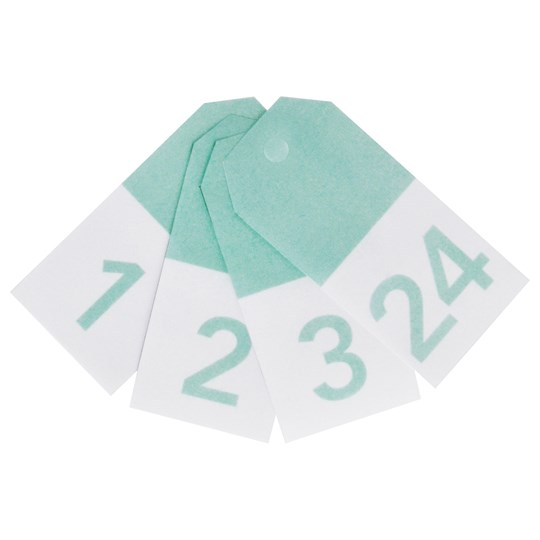 My Little Day 24 Gift Tags - Aqua Numbers aqua numbers